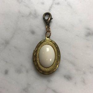 Jewelry - Gold White Locket Necklace Bracelet Charm